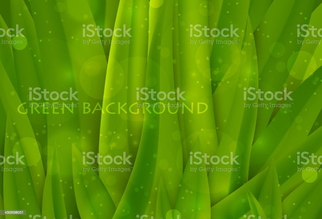background of green grass vector art illustration