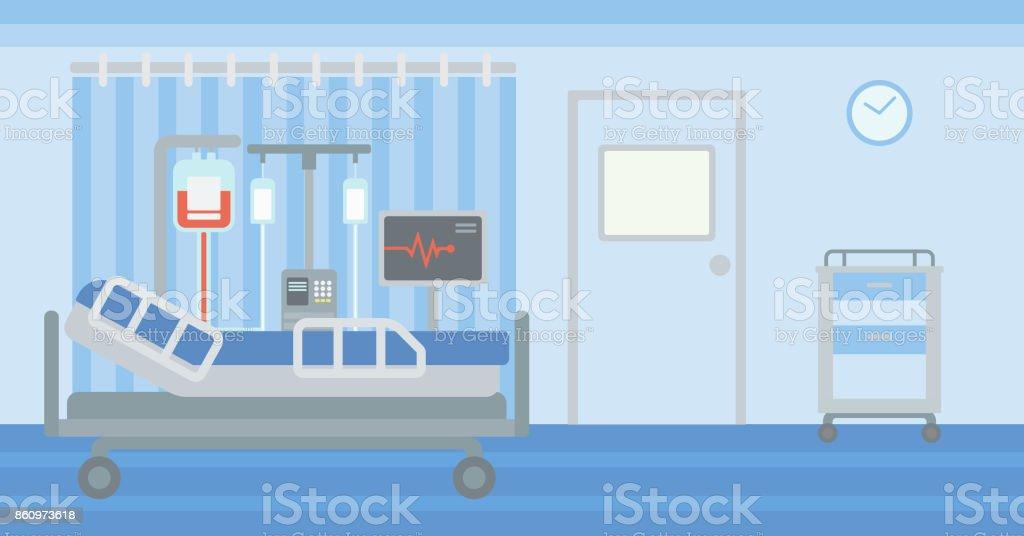 Background of hospital ward vector art illustration