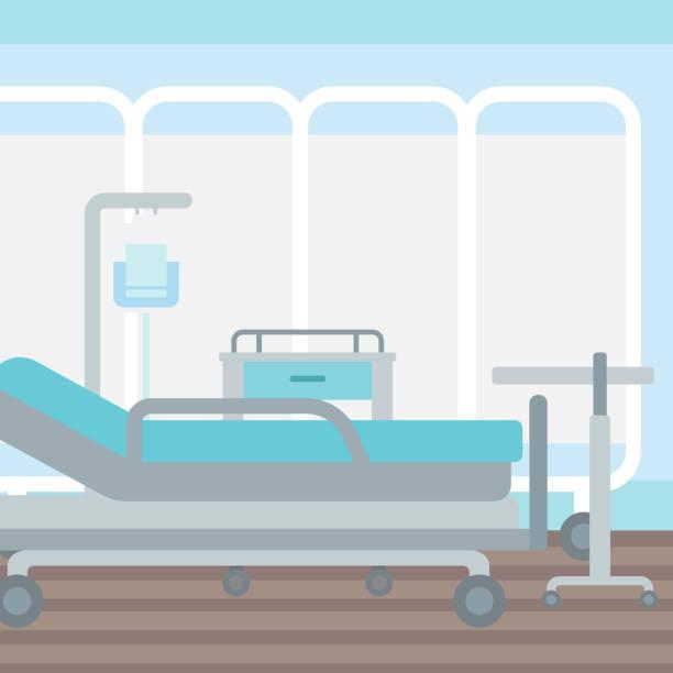 Royalty Free Cartoon Of Empty Hospital Bed Clip Art ...