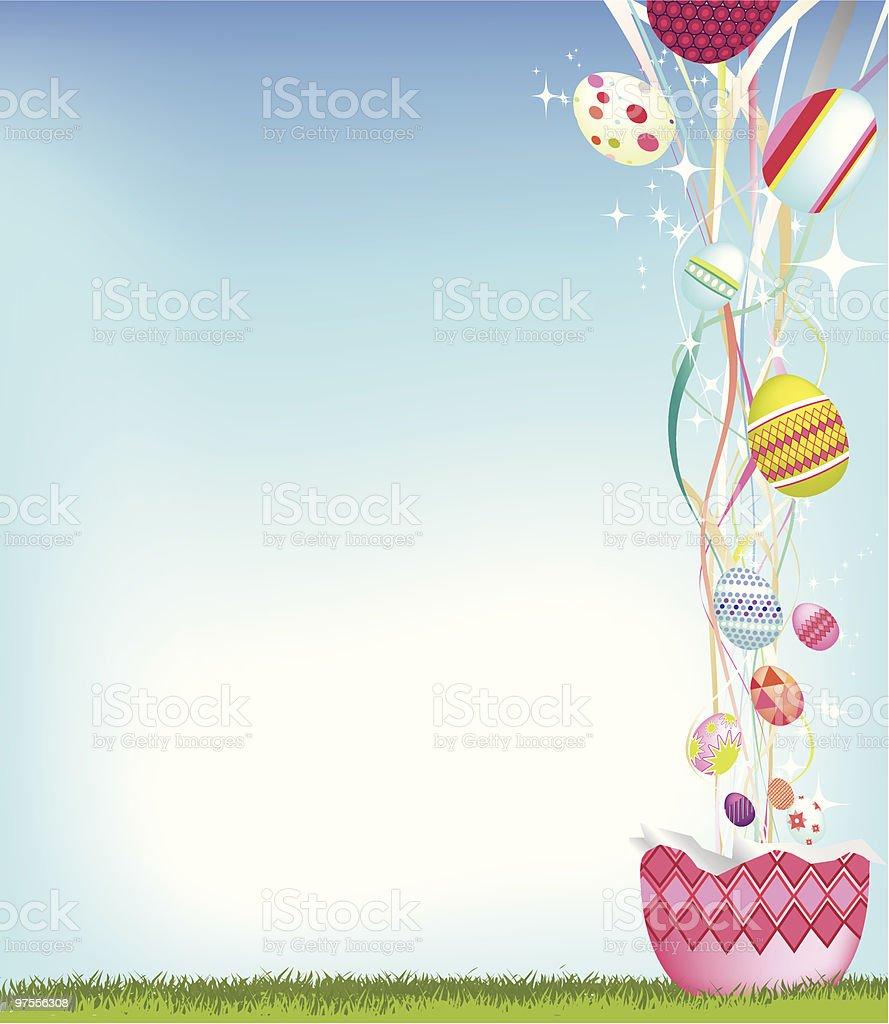 Oeuf de Pâques fond oeuf de pâques fond – cliparts vectoriels et plus d'images de brillant libre de droits
