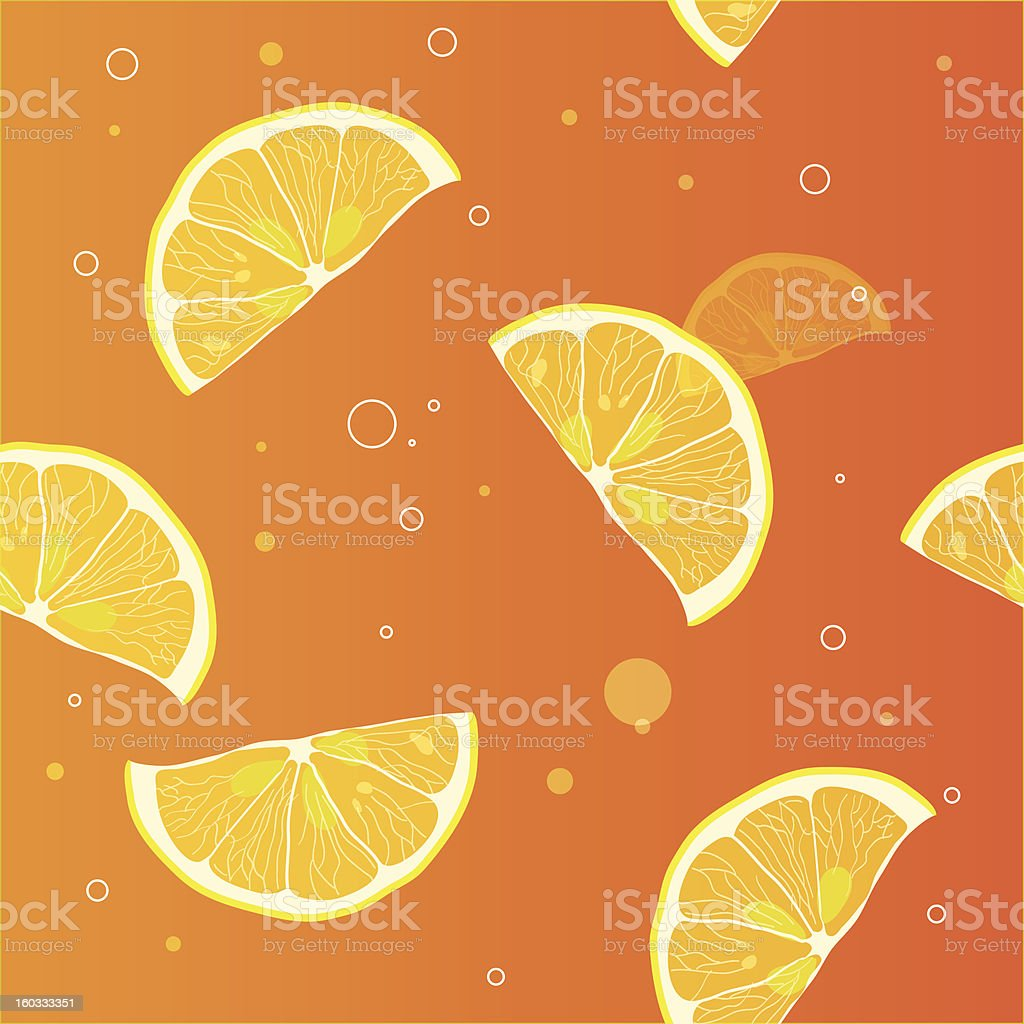 Background of lemon slices royalty-free stock vector art