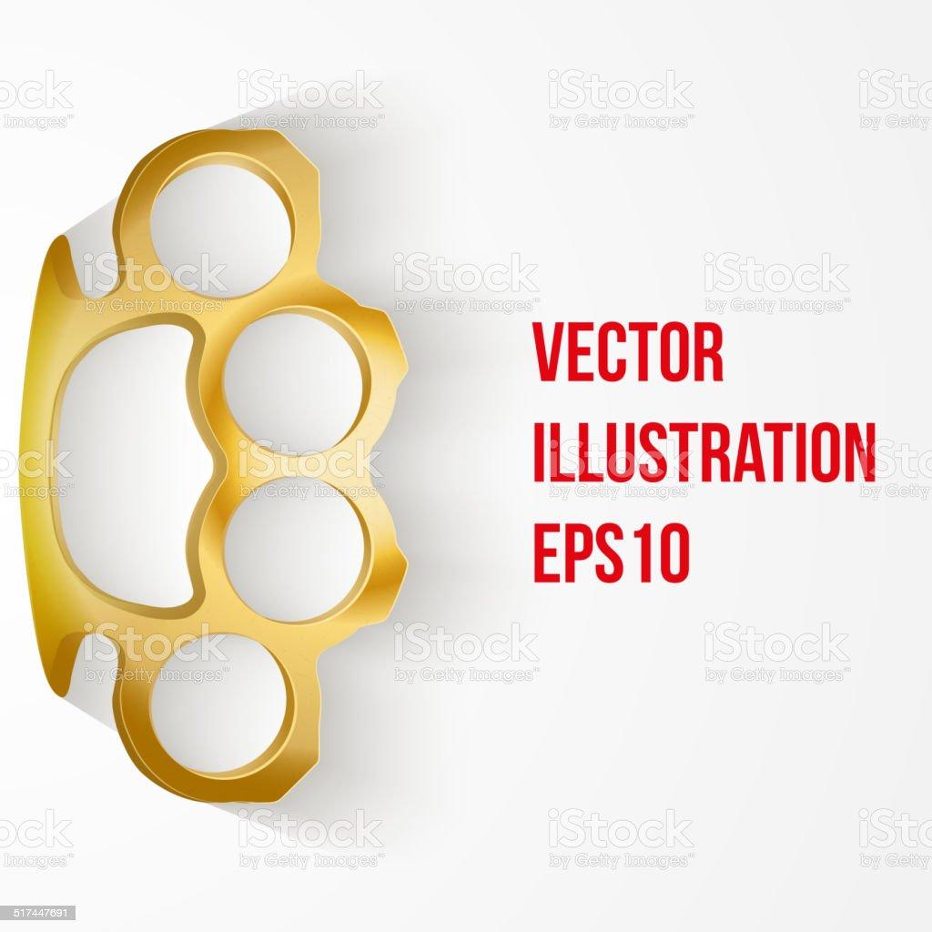 Background of Metal Brassknuckles. Vector illustration. vector art illustration
