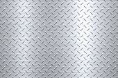 istock Background of Metal Diamond Plate in Silver Color 613902972