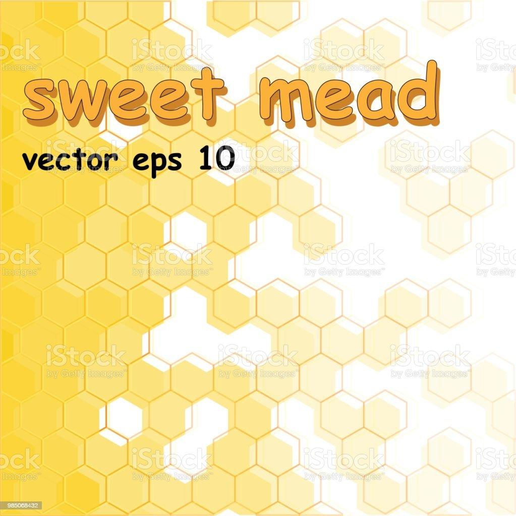 Background of orange, honey honeycombs. Pattern of geometric shapes.