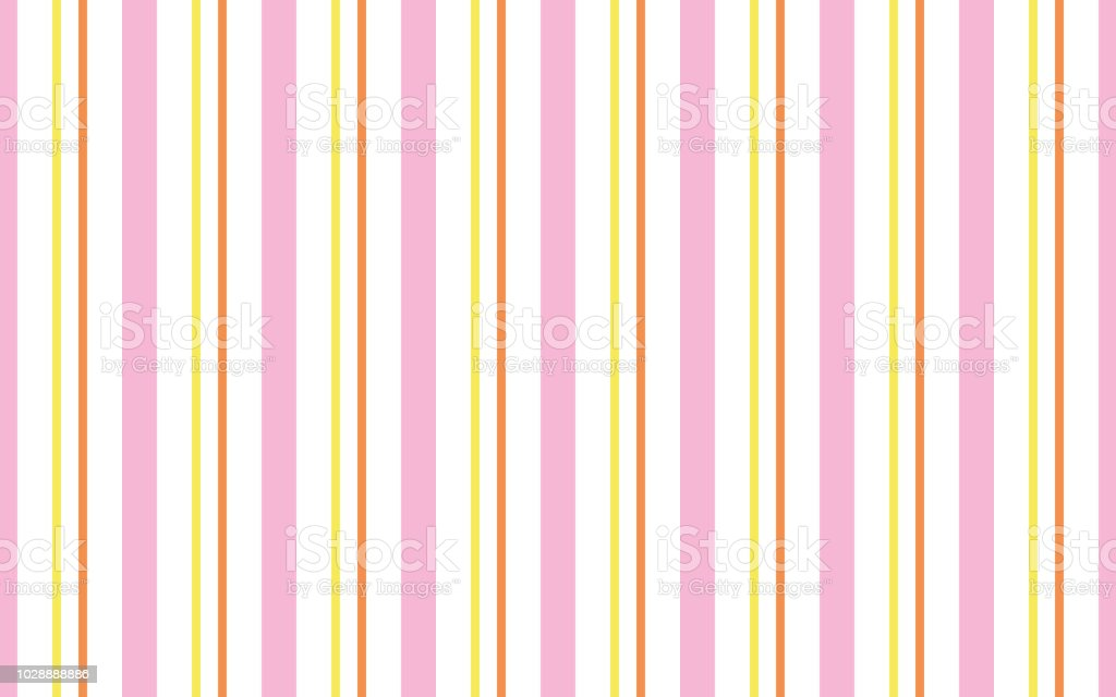 Background Of Pastel Pink Yellow Orange And White Stripes Stock