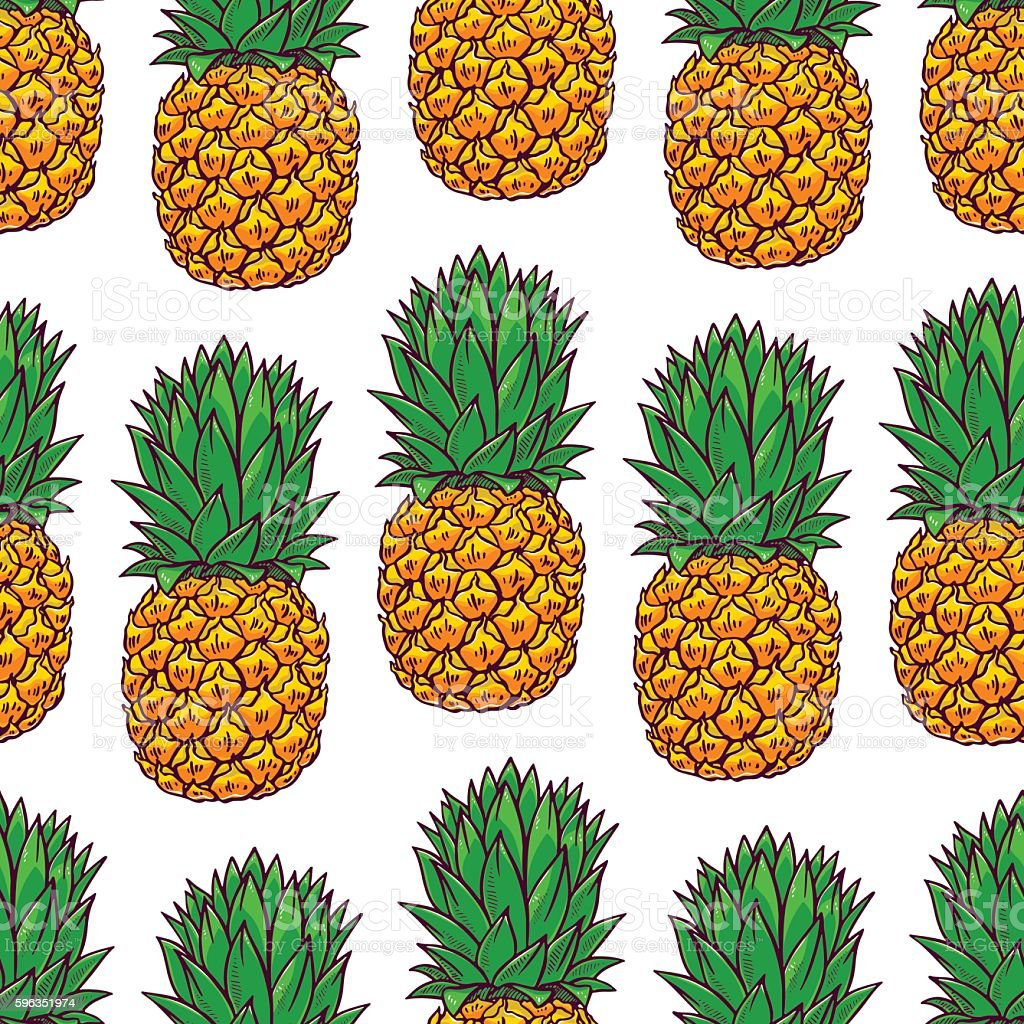 background of pineapples royalty-free background of pineapples stock vector art & more images of backgrounds