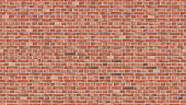 Background of red brick wall seamless vector pattern backdrop for design