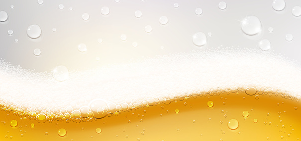 Background of Refreshing Beer with Foam