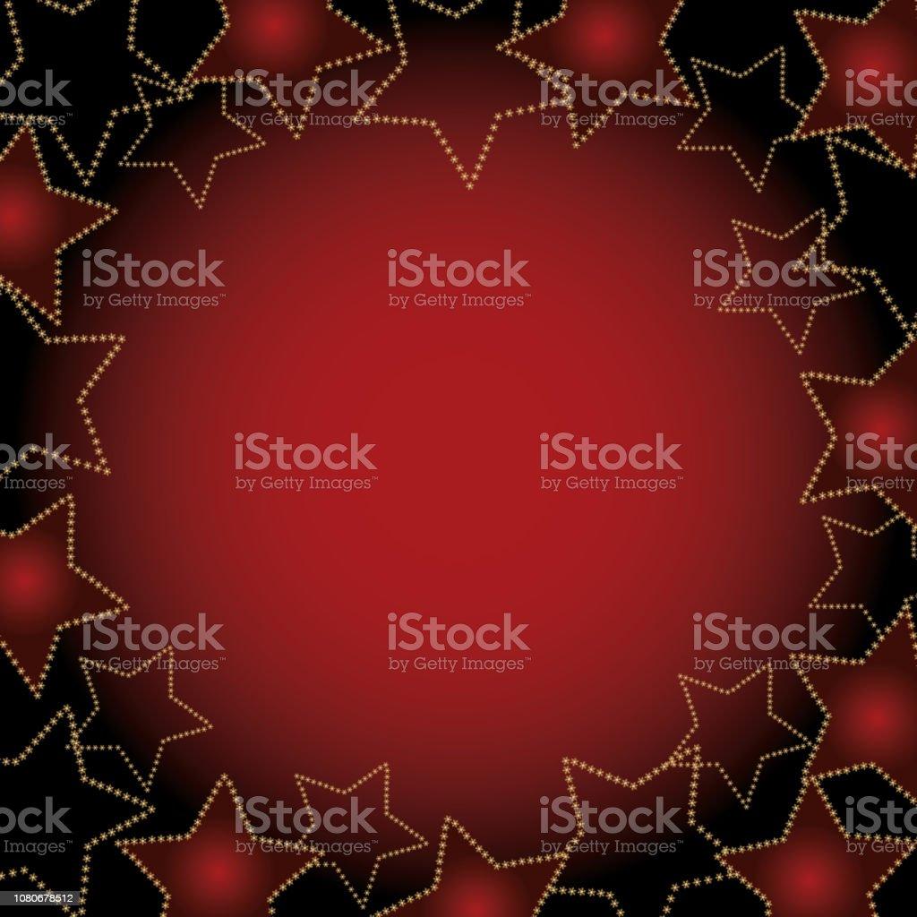 background of stars vector art illustration