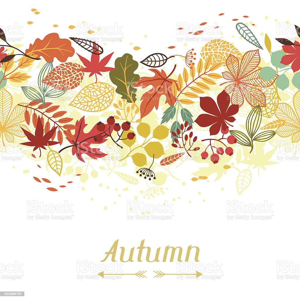Background of stylized autumn leaves for greeting cards stock background of stylized autumn leaves for greeting cards royalty free background of stylized autumn kristyandbryce Image collections