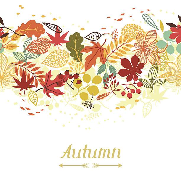 背景の図案化された秋の葉のグリーティングカード。 - ホリデーシーズンと季節のフレーム点のイラスト素材/クリップアート素材/マンガ素材/アイコン素材