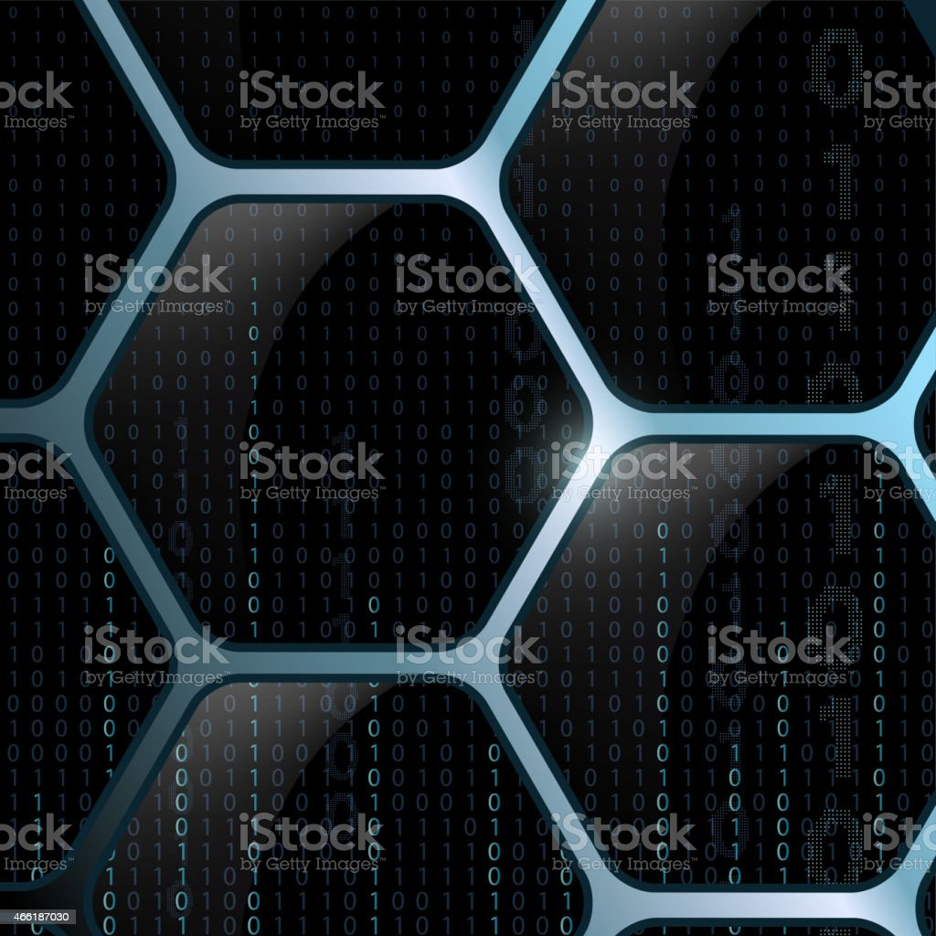 Background of the cells, and the binary code. vector art illustration