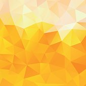 Background of the triangles, orange and yellow vector background