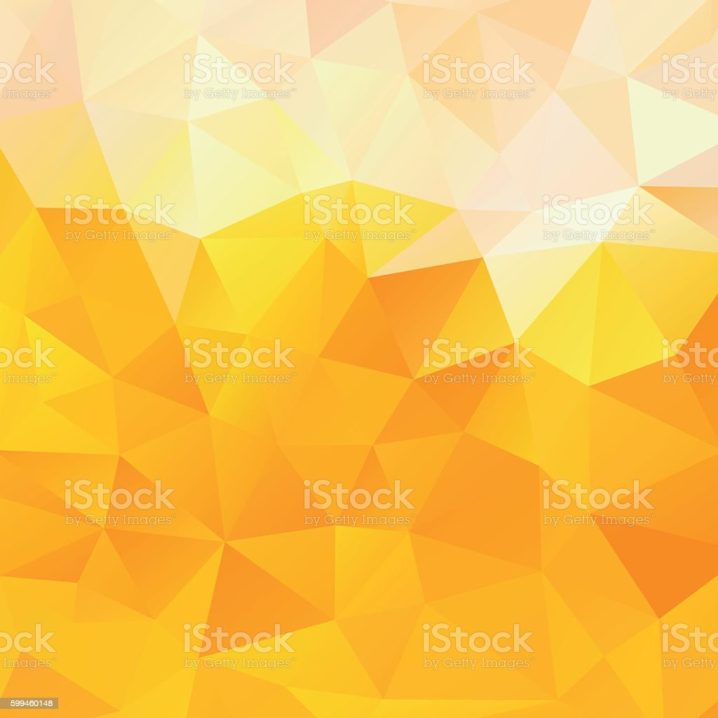 Background of the triangles, orange and yellow vector background vector art illustration