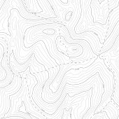 istock Background of topographic line contour map, geographic grid map. 1225920423
