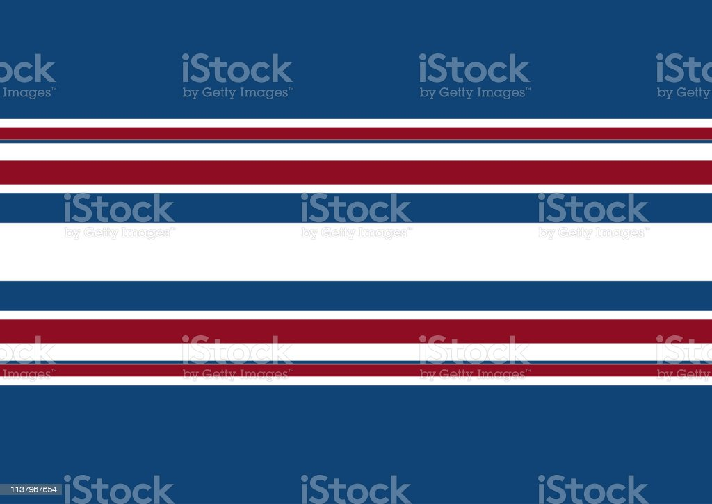 Background of white, blue and red stripes.