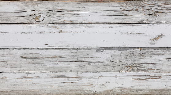 Background of white painted wooden planks