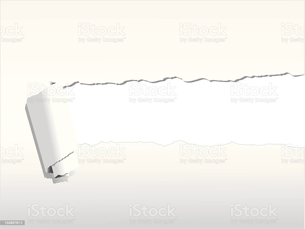 A background of white ripped paper royalty-free a background of white ripped paper stock vector art & more images of aperture