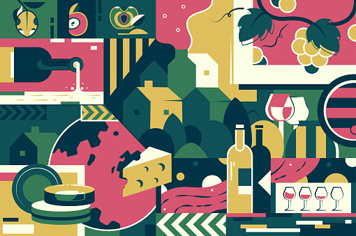 Artisanal food and drink stock illustrations