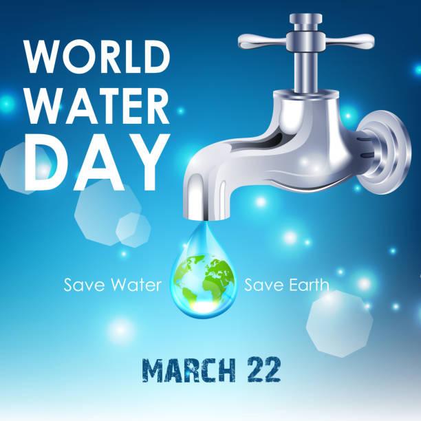 tło z świata wody dzień - tap water stock illustrations