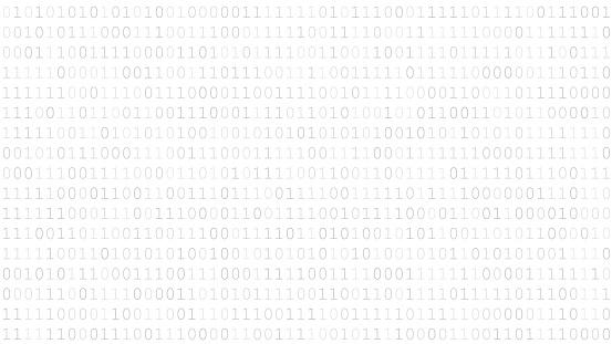 Background of zeros and ones