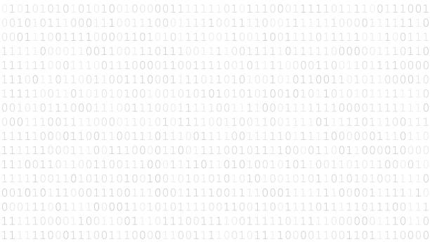 Background of zeros and ones Background of zeros and ones in white and gray colors hacker stock illustrations
