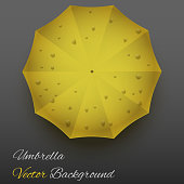 Background on a seasons theme of autumn. Symbol umbrella. Vector Illustration.
