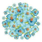 Background or card with pretty stylized flowers.