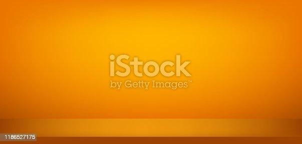 Background orange studio halloween colour. Luxury abstract wall layout design,room. Vector illustration.