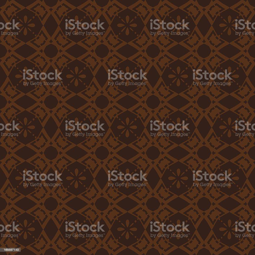 Background - Ornate Brown vector art illustration