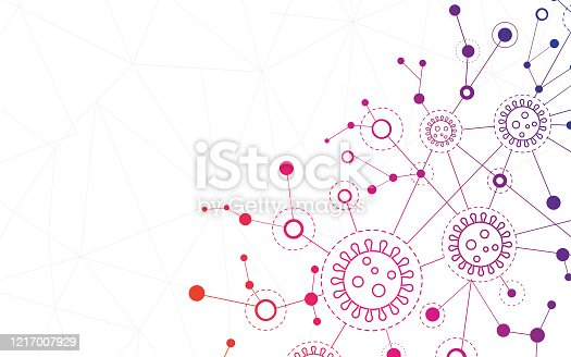 istock Background particle virus 1217007929