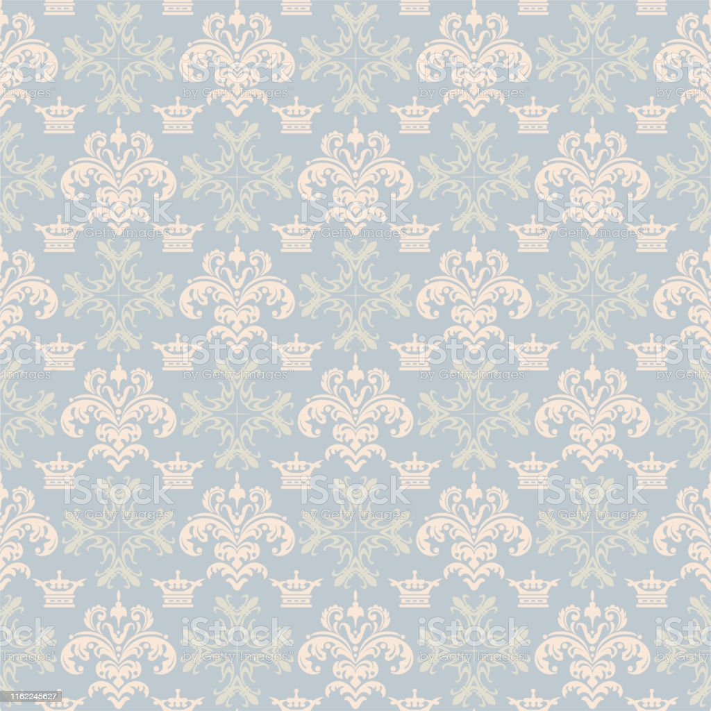 background pastel floral pattern royal style wallpaper texture vector id1162245627