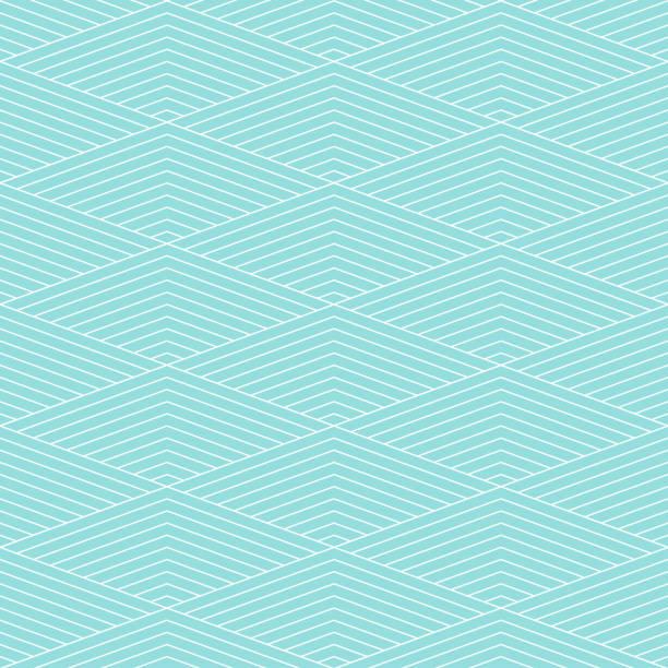Patrón chevron raya vector transparente textura verde aqua pastel color de fondo y línea blanca. Papel pintado fondo chevron rayas Resumen retro estilo. Forma geométrica del diseño gráfico. - ilustración de arte vectorial