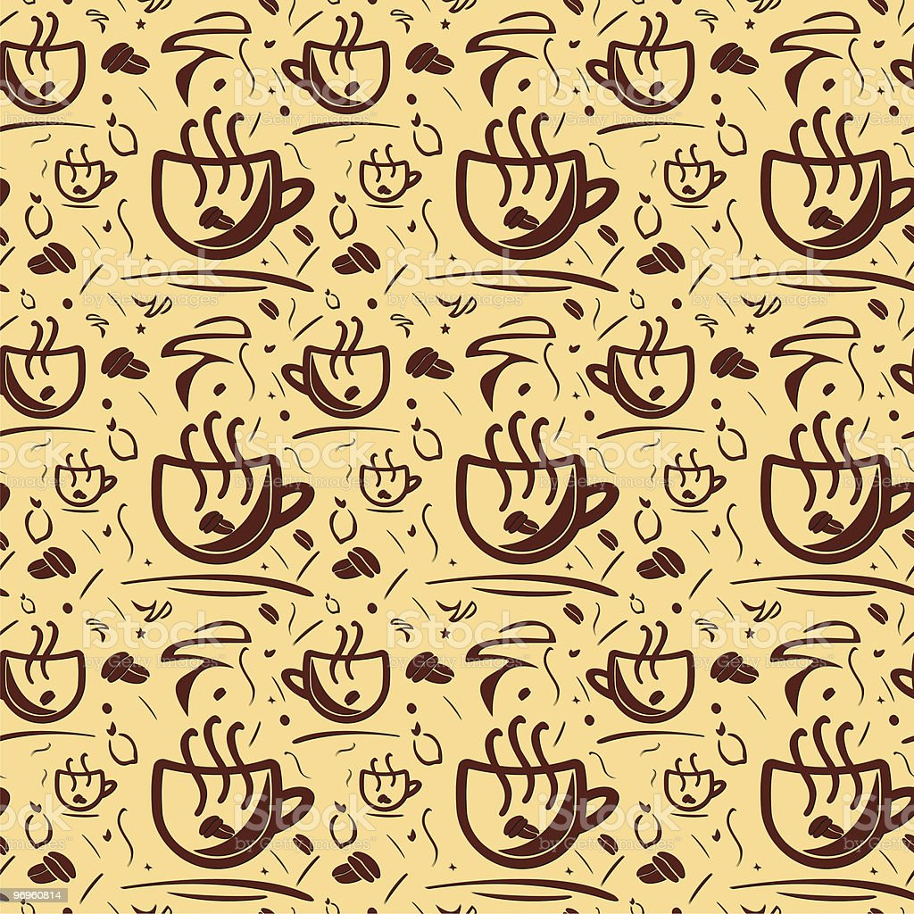 Background - pattern coffee royalty-free stock vector art