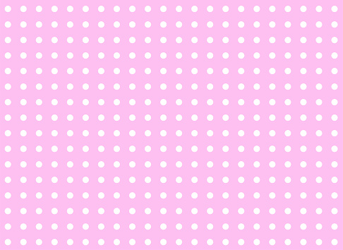 Background pattern in pink with white dots vector illustration isolated on white background