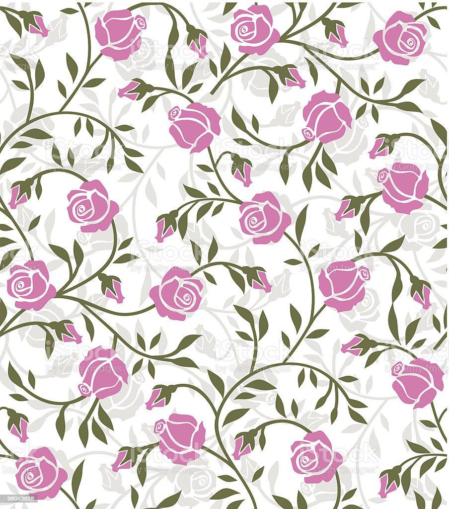 Motivo con rose motivo con rose - immagini vettoriali stock e altre immagini di carta da parati royalty-free