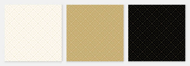 background pattern seamless geometric abstract gold luxury color vector. - таиланд stock illustrations