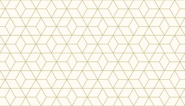 stockillustraties, clipart, cartoons en iconen met achtergrond patroon naadloze geometrische abstract goud luxe kleur vector. - pattern