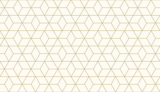 illustrazioni stock, clip art, cartoni animati e icone di tendenza di background pattern seamless geometric abstract gold luxury color vector. - pattern