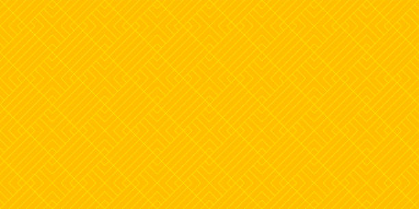 background pattern seamless geometric abstract orange and yellow colors vector. summer background design. - kolor tła stock illustrations
