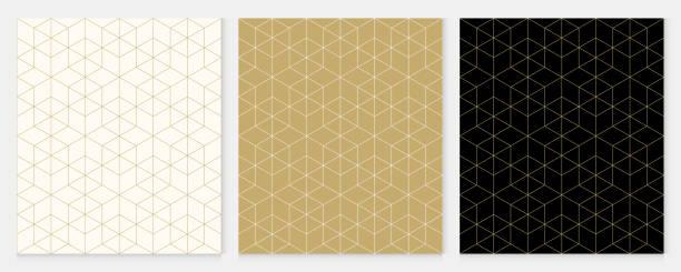 stockillustraties, clipart, cartoons en iconen met achtergrond patroon naadloze geometrische lijn abstracte gouden luxe kleur vector. kerst achtergrond. - pattern