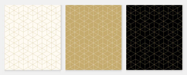 Background pattern seamless geometric line abstract gold luxury color vector. Christmas background. Background pattern seamless geometric line abstract gold luxury color vector. Christmas background. geometric shape stock illustrations
