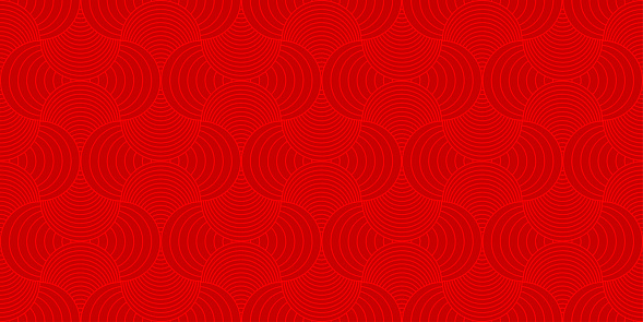 Background pattern seamless red luxury round rectangle circle abstract vector design. Chinese New Year background.