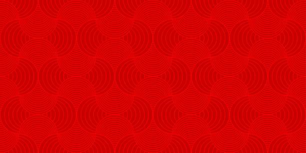stockillustraties, clipart, cartoons en iconen met achtergrond patroon naadloze rood luxe ronde rechthoek cirkel abstract vector design. chinees nieuwjaar achtergrond. - thailand