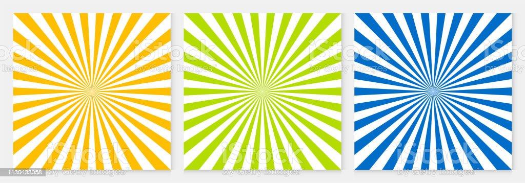 Background pattern sun ray abstract colorful geometric vector. Summer Background design. - Grafika wektorowa royalty-free (Abstrakcja)
