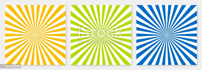 Background pattern sun ray abstract colorful geometric vector. Summer Background design.