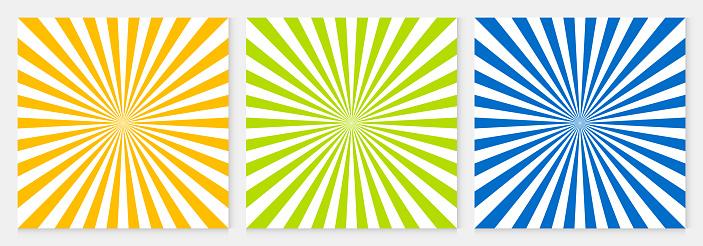 Background Pattern Sun Ray Abstract Colorful Geometric Vector Summer Background Design - Stockowe grafiki wektorowe i więcej obrazów Abstrakcja