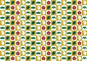 Background pattern(Lucky charm in Japan)