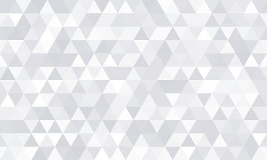 Background pattern, white geometric abstract polygon shape. Vector modern gray minimal mosaic tile, triangular diamond line, backdrop flat background design