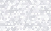 istock Background pattern, white geometric abstract polygon shape. Vector modern gray minimal mosaic tile, triangular diamond line, backdrop flat background design 1178041703